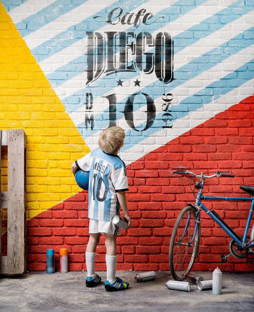 Branding futbolero: Café Diego 1