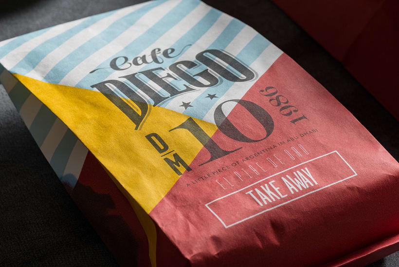 Branding futbolero: Café Diego 4