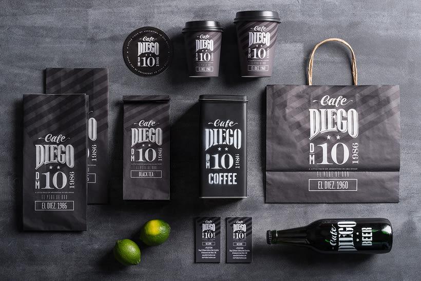 Branding futbolero: Café Diego 9