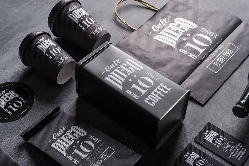 Branding futbolero: Café Diego 10