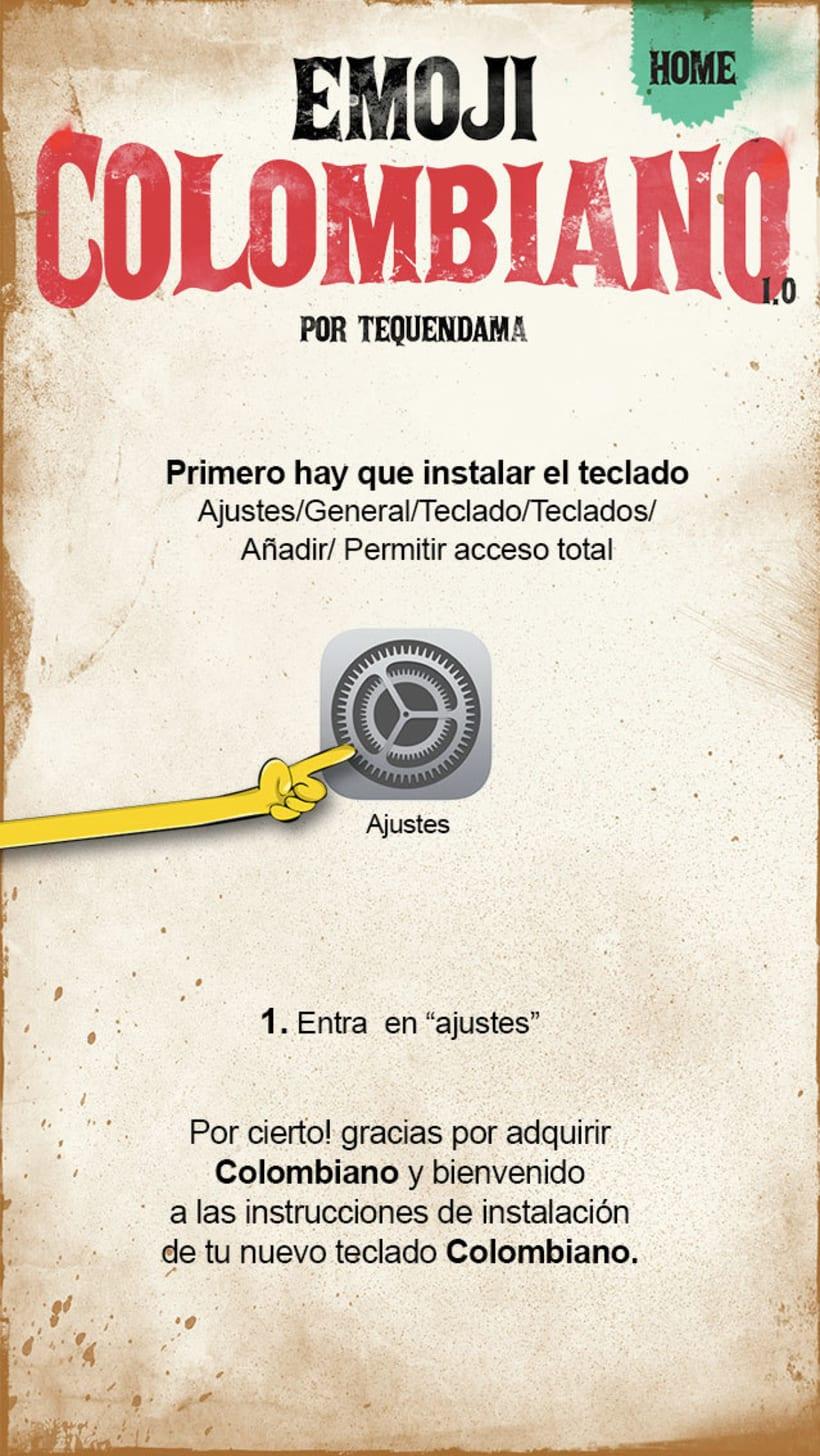 App teclado Colombiano 8