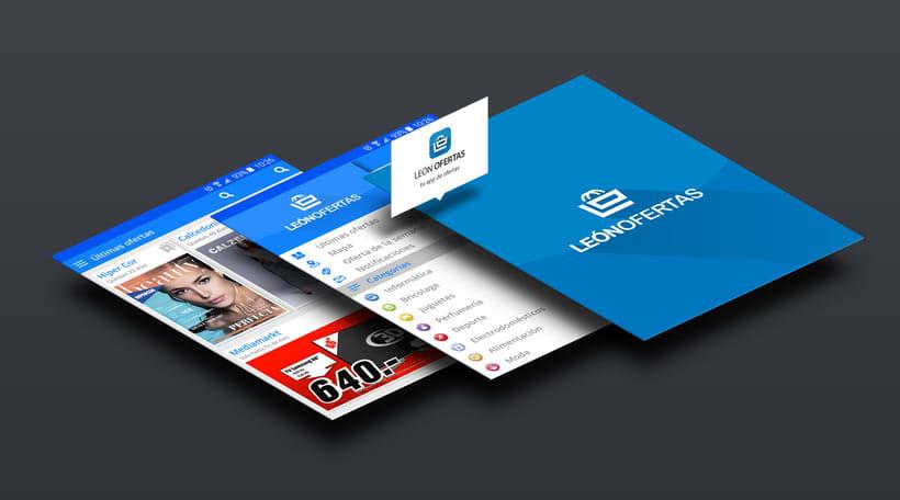 Diseño interface & Branding para App León Ofertas 0