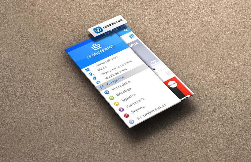 Diseño interface & Branding para App León Ofertas 1