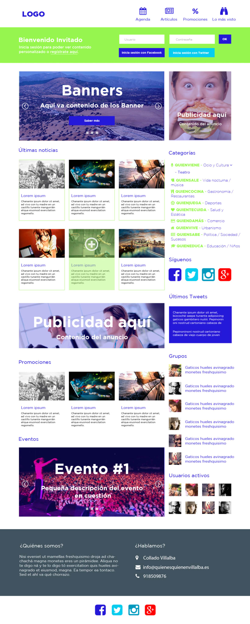 Web design for a local website (Who is who) -1