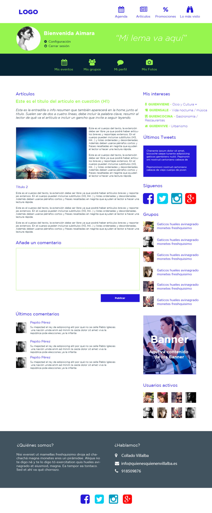 Web design for a local website (Who is who) 0