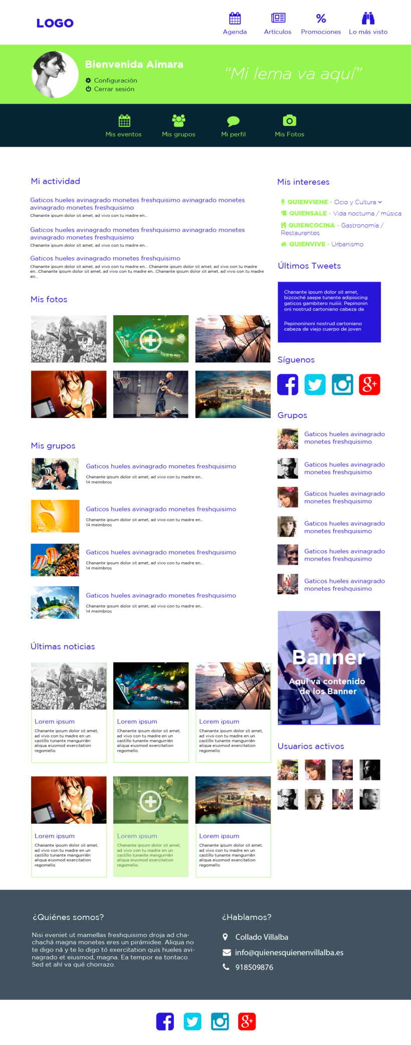 Web design for a local website (Who is who) 1