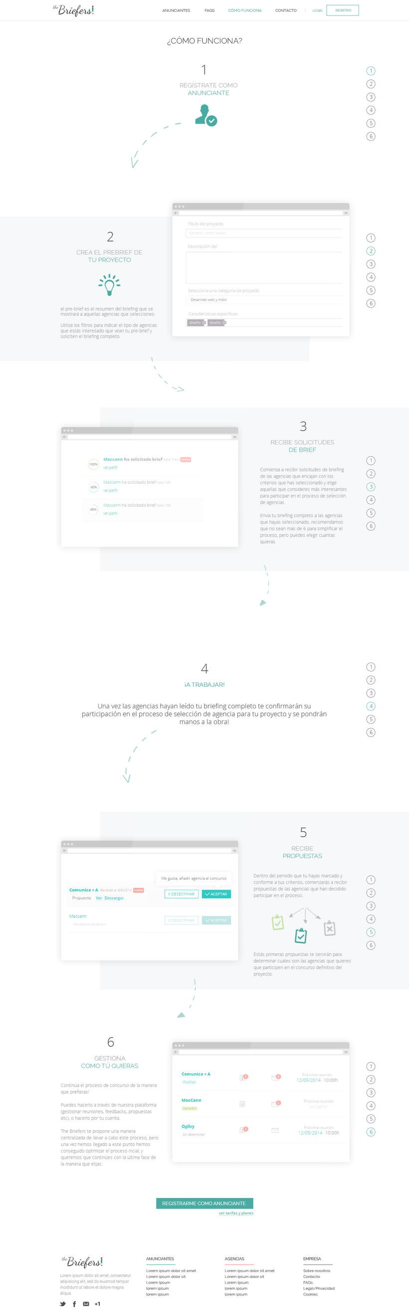 The Briefers - arquitectura web, prototipado y diseño -1