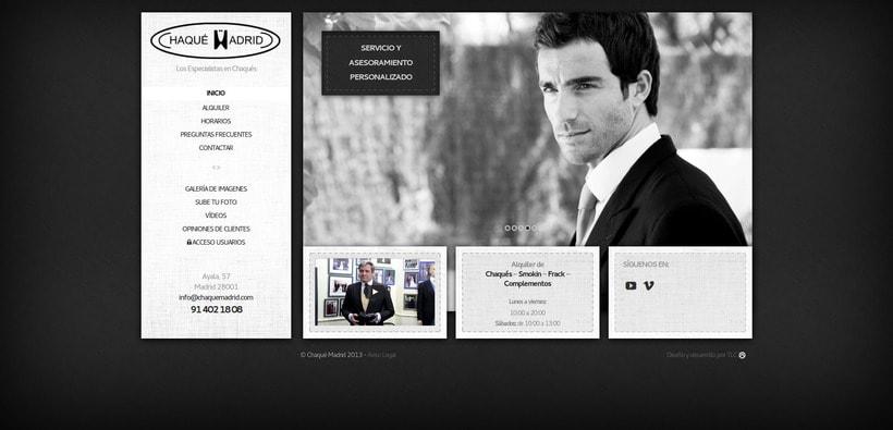 Diseño y desarrollo web Chaqué Madrid -1