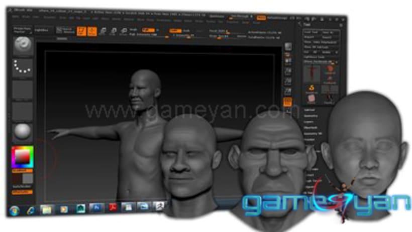 Charakter-Modellierung Sculpting Texturing 2