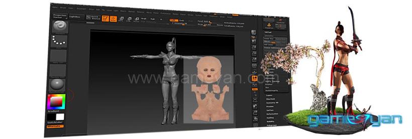 Charakter-Modellierung Sculpting Texturing 3
