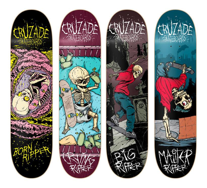 Cruzade Skateboards - Serie Ripper 0