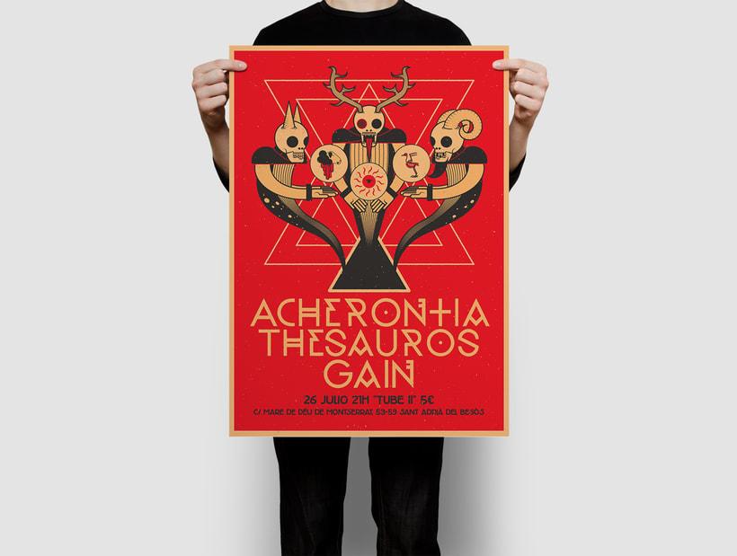Acherontia/Thesauros/Gain poster 1