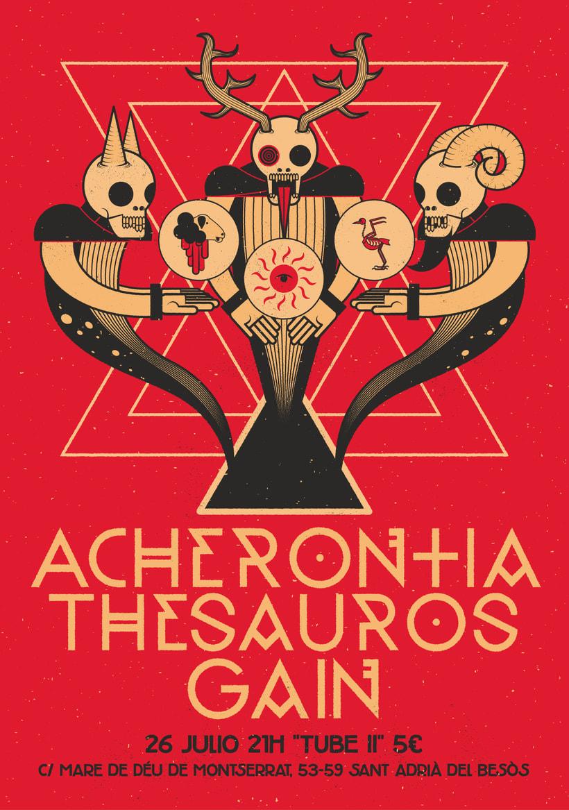 Acherontia/Thesauros/Gain poster 2