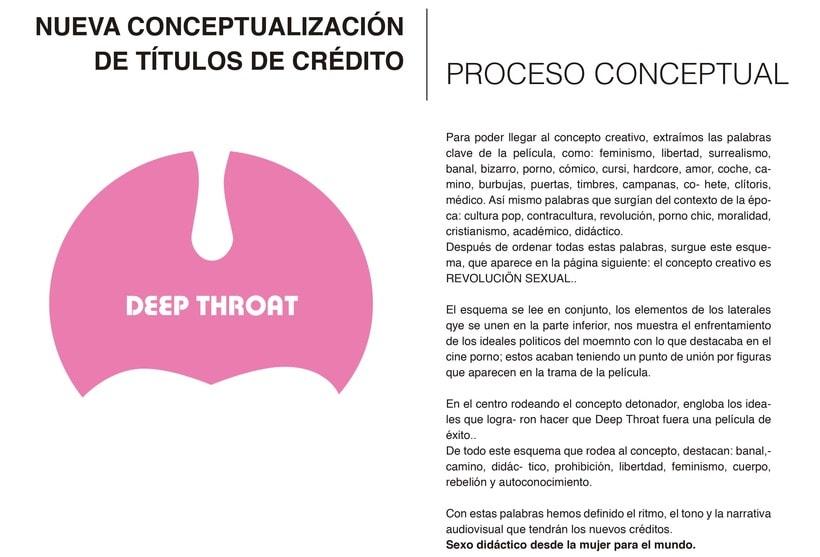 Reconceptualización de títulos de credito: 'Deep Throat' 0