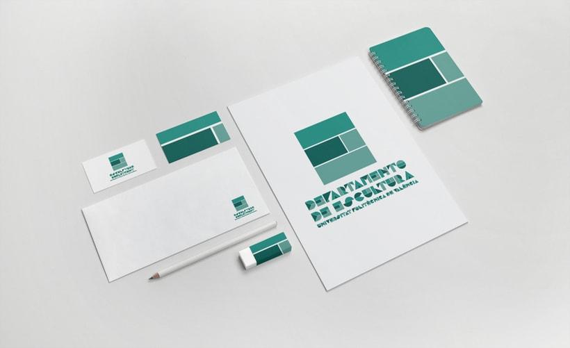 """Diseño de identidad corporativa para concurso  """"Departamento de Escultura - UPV"""" 0"""