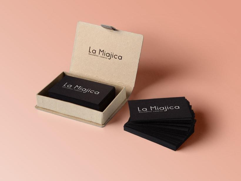 """Diseño logotipo """"La Miajica - bocaditos caseros"""" -1"""