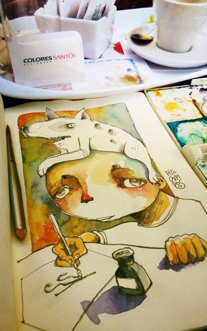 Acuarelas que mancho en Bares - Sketch Café 0