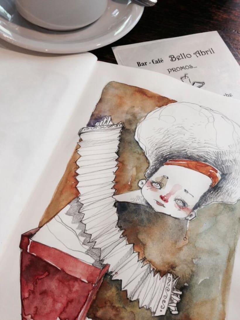 Acuarelas que mancho en Bares - Sketch Café 1