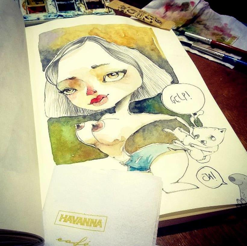 Acuarelas que mancho en Bares - Sketch Café 2