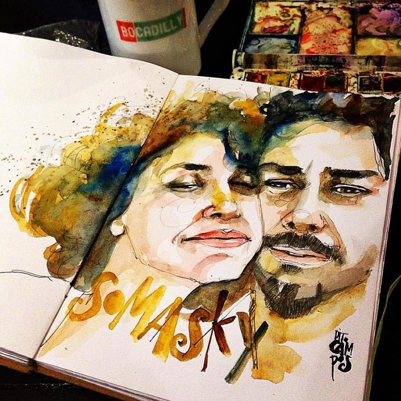 Acuarelas que mancho en Bares - Sketch Café 7