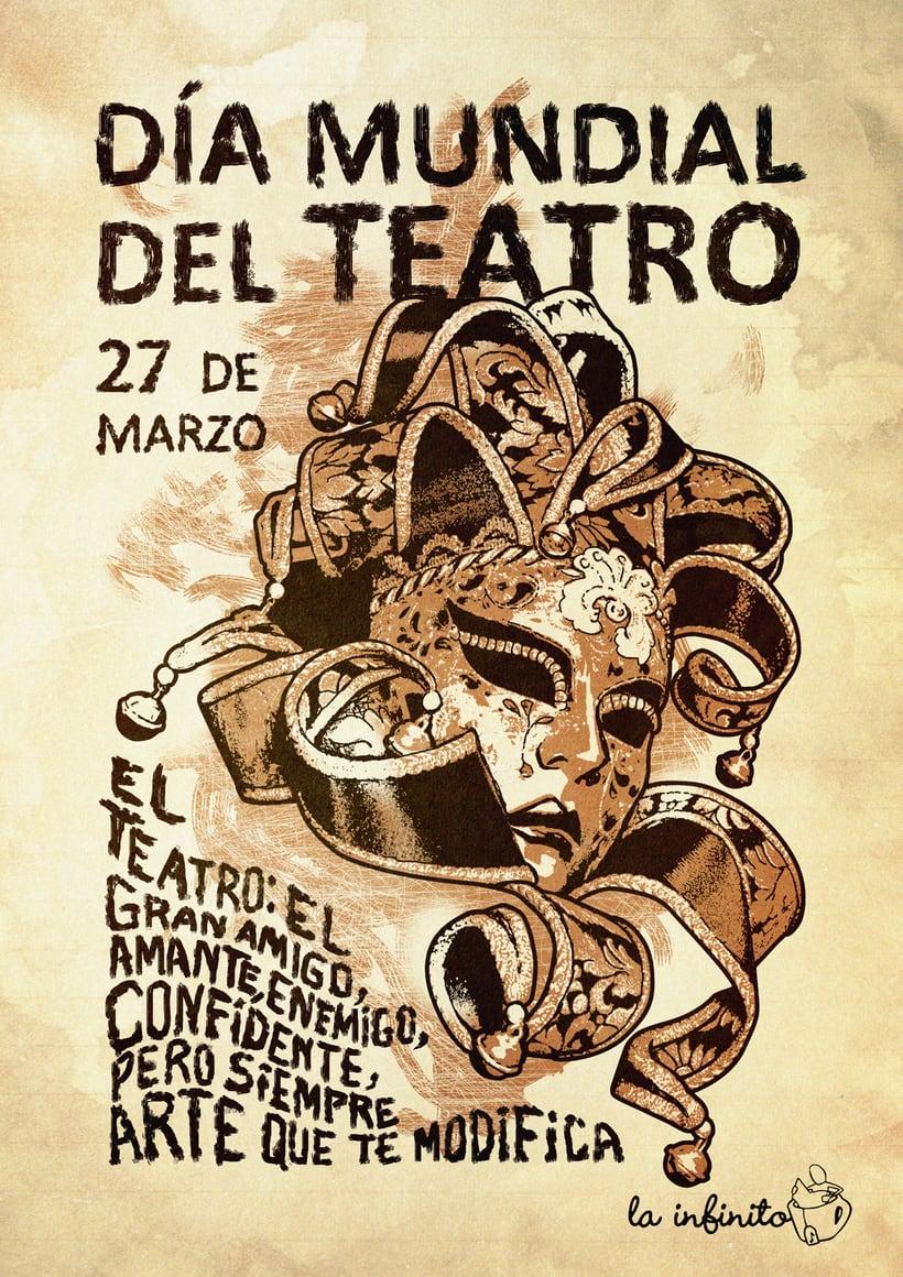 Día Mundial del Teatro. Cartel para La Infinito. -1