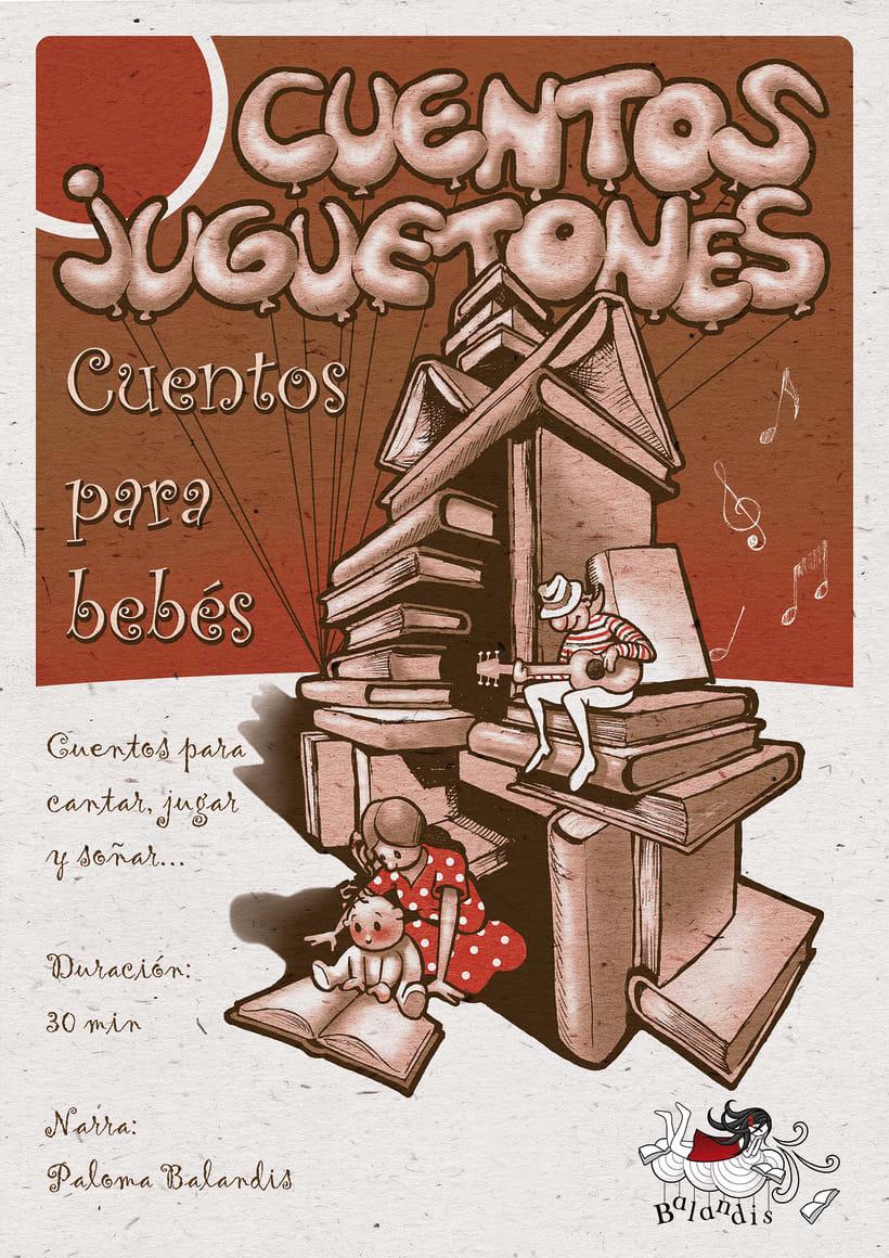 """Cartel """"Cuentos Juguetones"""" para Balandis -1"""