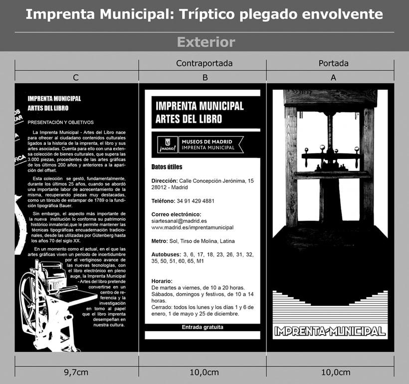Imprenta Municipal: Tríptico plegado envolvente. -1