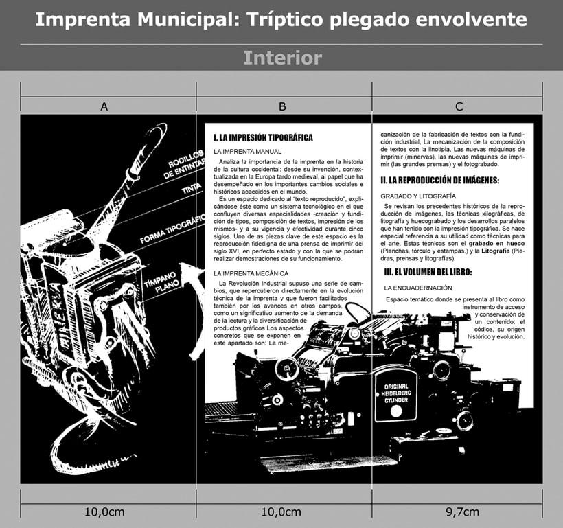Imprenta Municipal: Tríptico plegado envolvente. 0