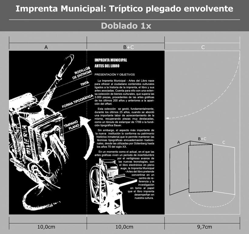 Imprenta Municipal: Tríptico plegado envolvente. 1