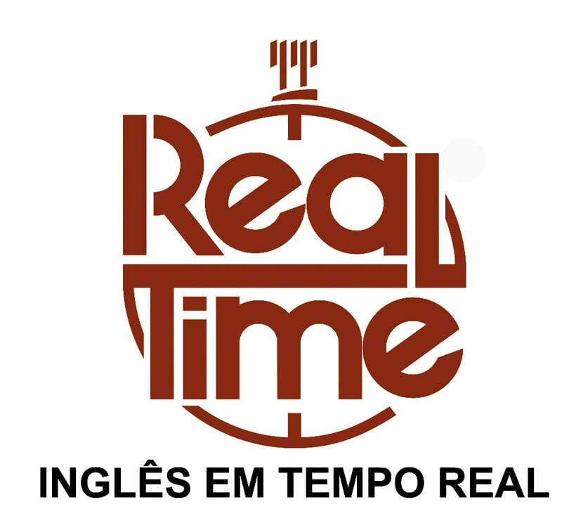 Real Time. Logotipo de academia de inglés. -1