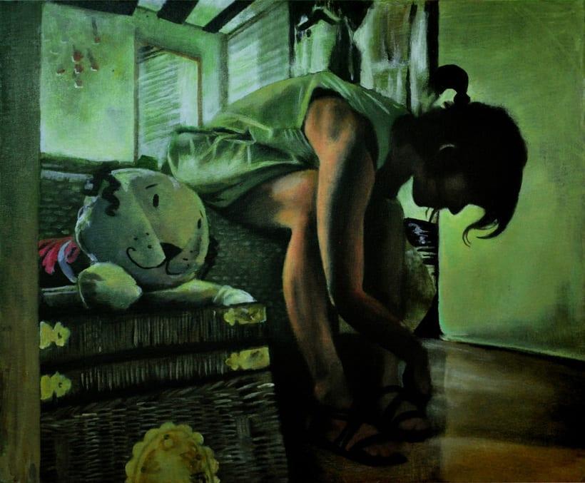 """""""Amanecer en la habitación"""". Pintura en acrílico sobre lienzo. -1"""