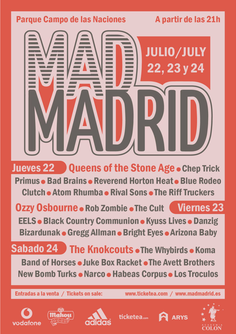 "Cartel ""Festival Mad Madrid"". -1"