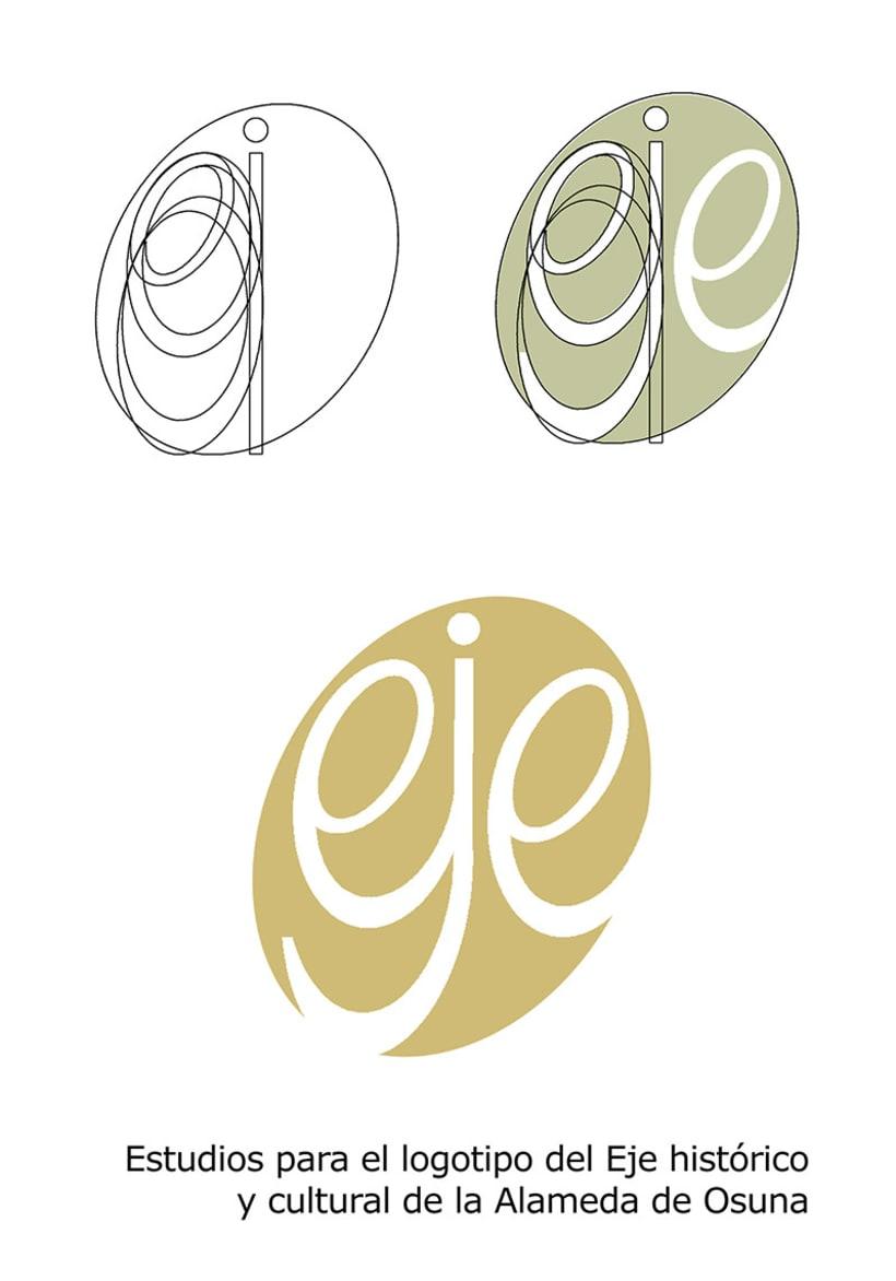 Estudios para el logotipo del Eje histórico y cultural de la Alameda de Osuna. -1
