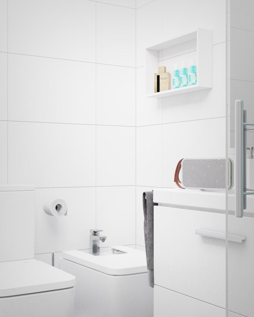 Infografía baño Mint&White 1