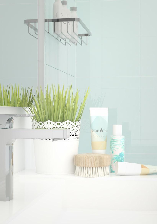 Infografía baño Mint&White 2