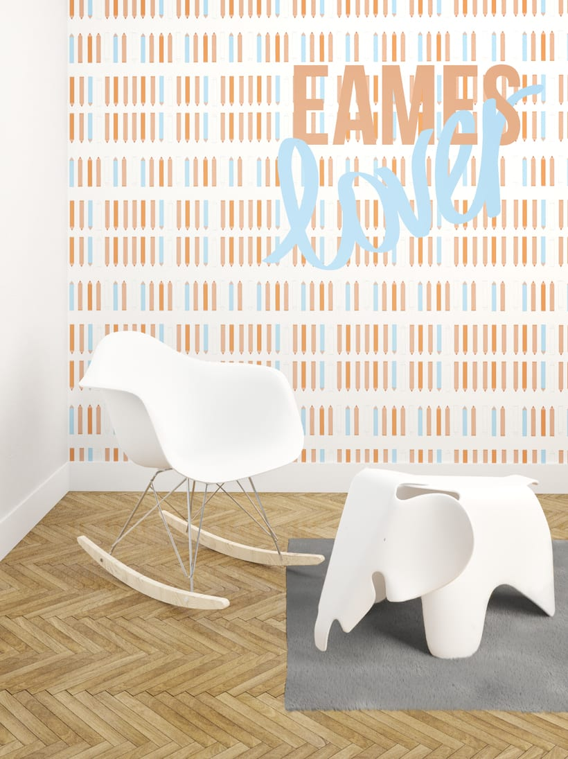 Dise o papel pintado habitaci n infantil domestika - Diseno habitacion infantil ...
