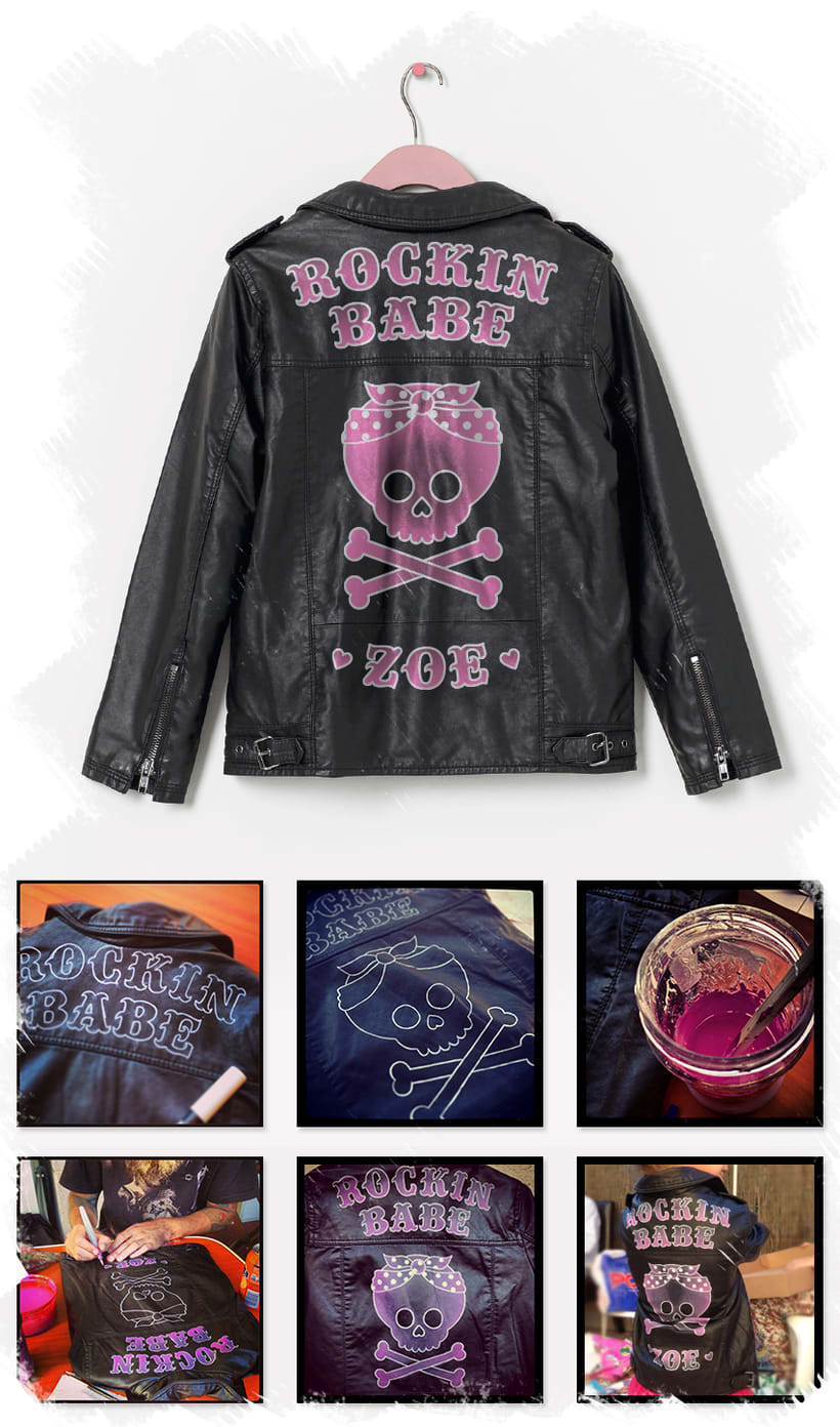 ROCKIN' BABE - Jacket  (Hand painted) 0