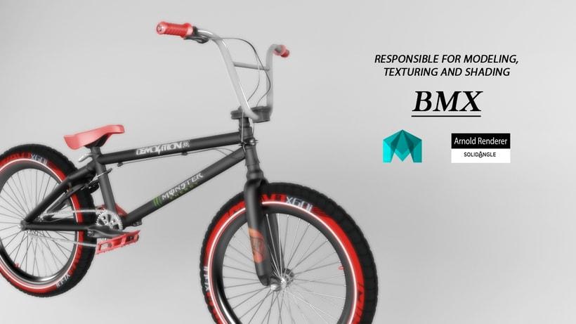 Bmx and skate in maya -1