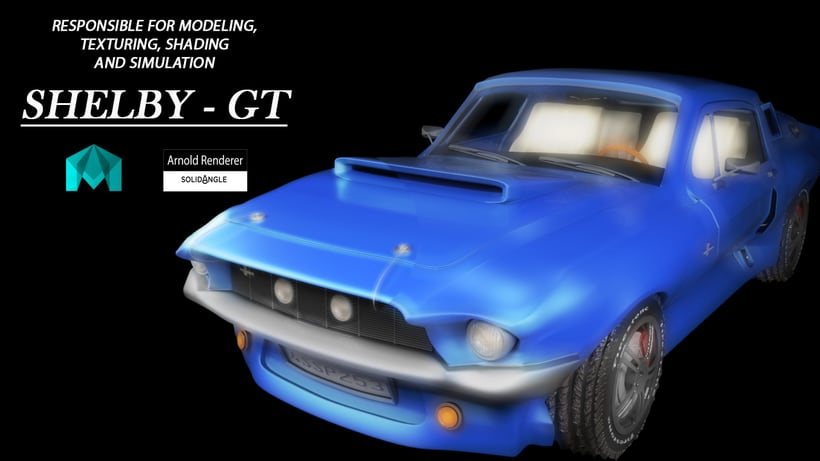 Animation a reconstruction with parts of a shelby gt 350 -1