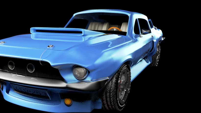Animation a reconstruction with parts of a shelby gt 350 0
