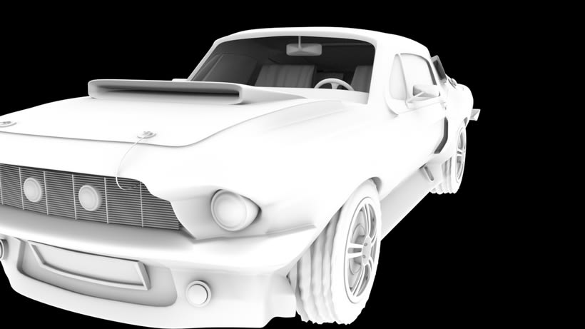 Animation a reconstruction with parts of a shelby gt 350 1