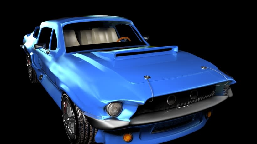 Animation a reconstruction with parts of a shelby gt 350 2