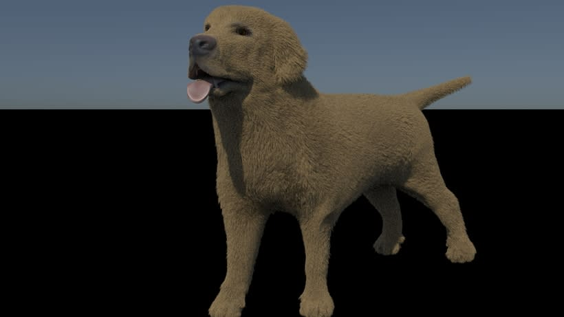 doggy created with maya xgen, part of my final proyect in master 3dmaya 1