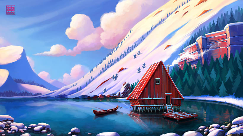 cabin lake 0