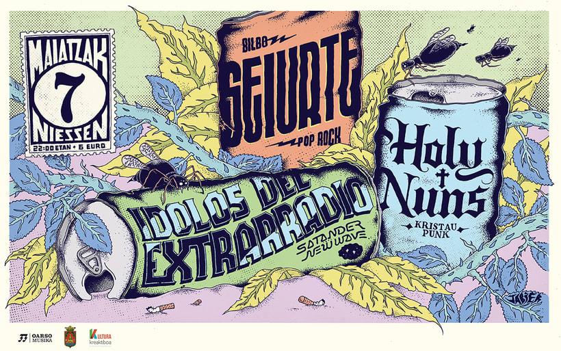 Ídolos de extraradio, Seiurte eta Holy Nuns 5