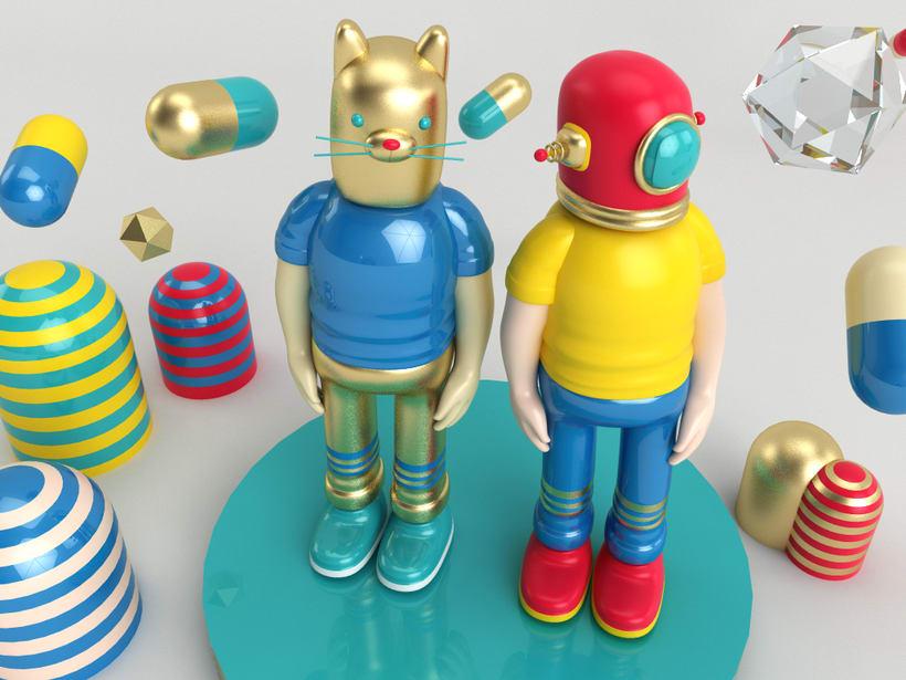 Mi Proyecto del curso: Diseño de personajes en Cinema 4D: del boceto a la impresión 3D 2