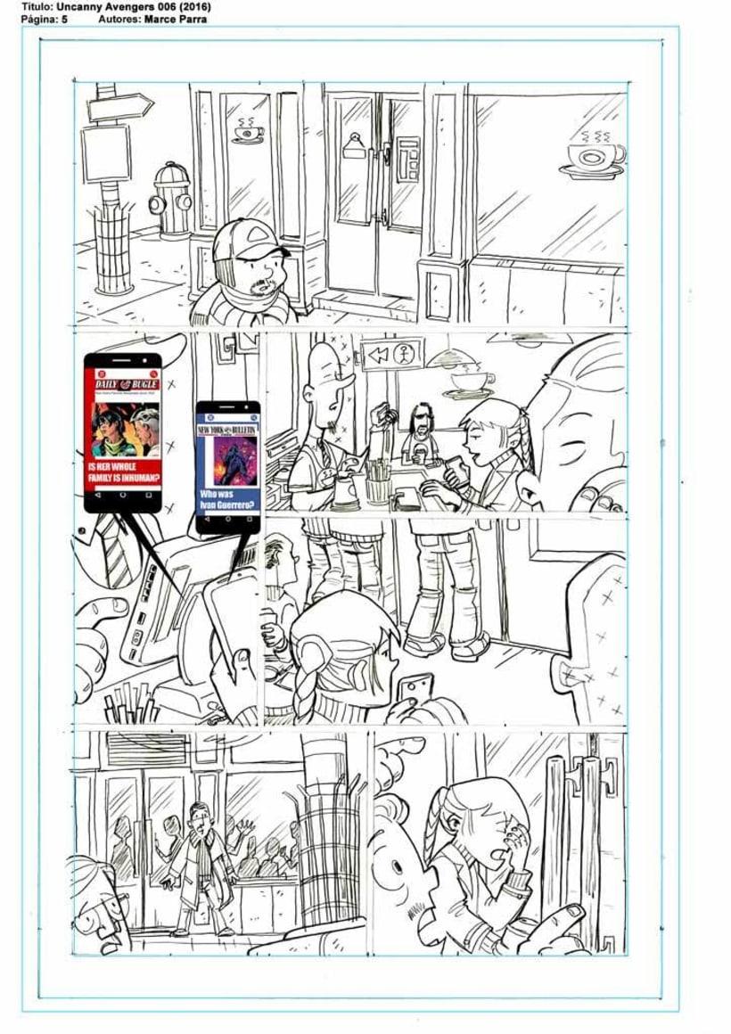 Mi Proyecto del curso: El cómic de superhéroes: narrativa y realización gráfica. Los pequeños Uncanny Avenger -1