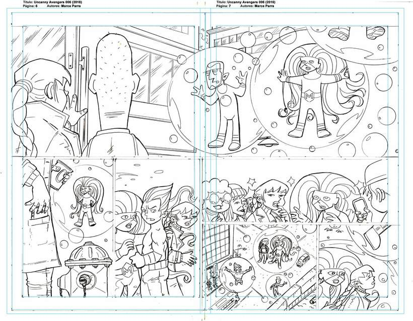 Mi Proyecto del curso: El cómic de superhéroes: narrativa y realización gráfica. Los pequeños Uncanny Avenger 0
