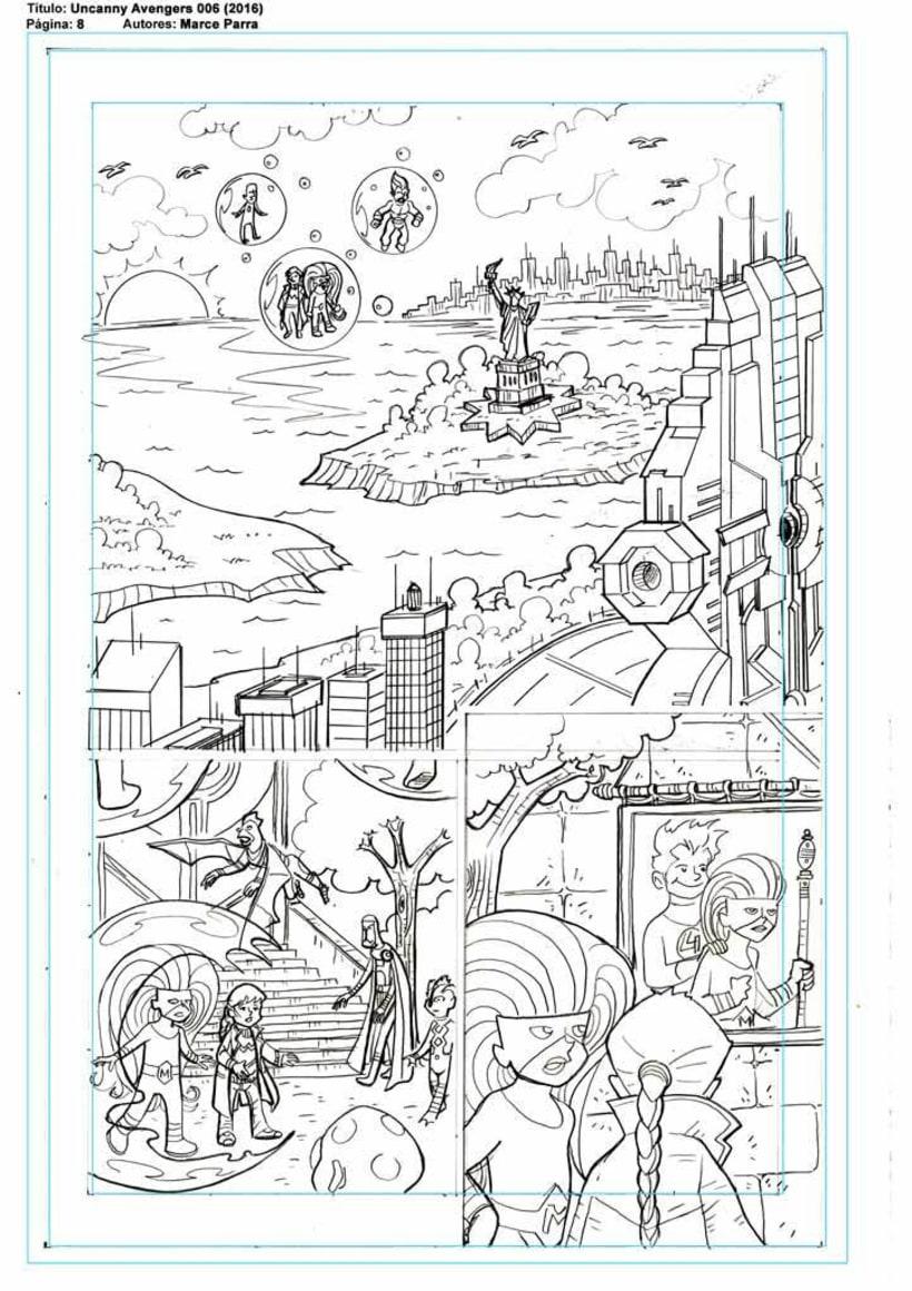 Mi Proyecto del curso: El cómic de superhéroes: narrativa y realización gráfica. Los pequeños Uncanny Avenger 1