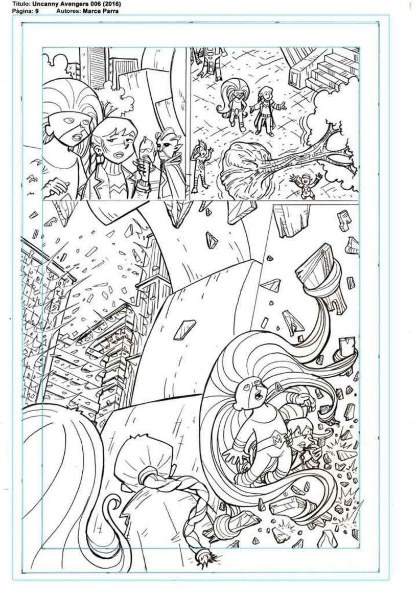 Mi Proyecto del curso: El cómic de superhéroes: narrativa y realización gráfica. Los pequeños Uncanny Avenger 2